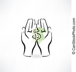 money hand icon
