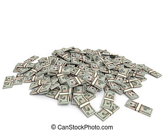 Money heap. Twenty dollars.