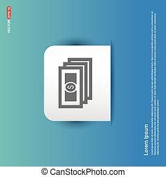 money icon - Blue Sticker button