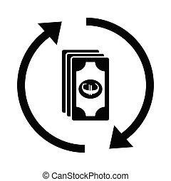 money icon. EURO sign. vector