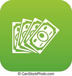 Money icon green vector