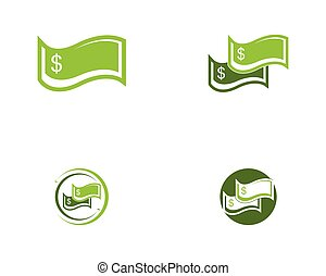 Money icon logo vector illustration