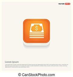money icon Orange Abstract Web Button