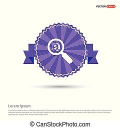 money icon - Purple Ribbon banner