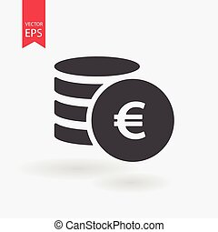 Money Icon Vector. Flat design. Coins sign isolated on white background.