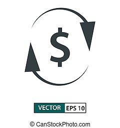 Money icon vector. Line style. Isolated on white. Vector Illustration EPS 10