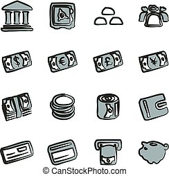 Money Icons Freehand 2 Color