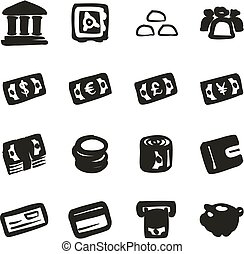 Money Icons Freehand Fill