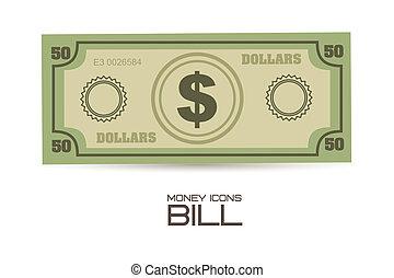 Money Icons - illustration of money icons. Bill...