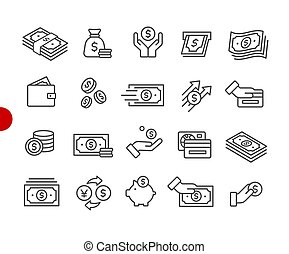 Money Icons // Red Point Series