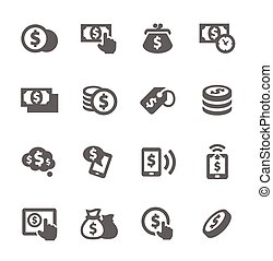 Money Icons - Simple Set of Money Related Vector Icons for...