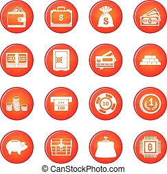 Money icons vector set