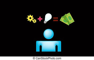 Money idea vector