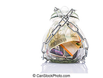 Money In A Chained Jar