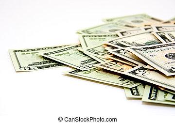 Money in a closeup