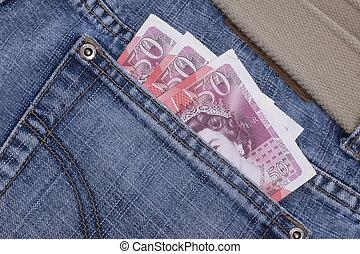 money in a pocket