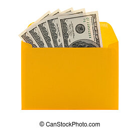 Money in a yellow envelope