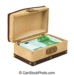 Money in box