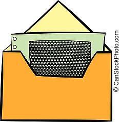 Money in envelope icon cartoon