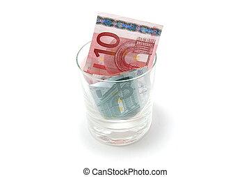Money in glass