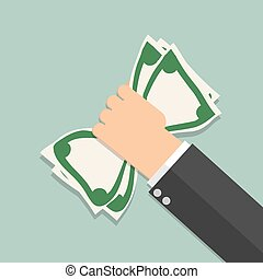 money in hand illustration