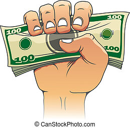 Money in people hand for investment concept design