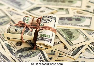 Money in rolls.