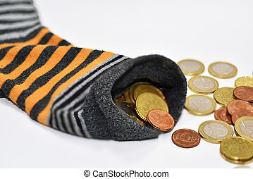 Money in sock.