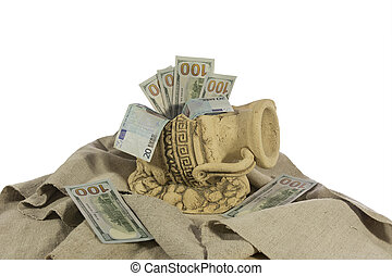 money in the broken jug