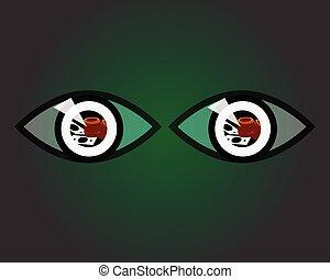 money in the eyes vector