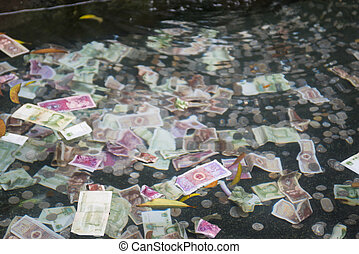 money in the fountain