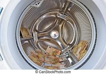 money in washer