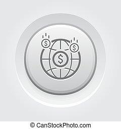 Money Income Icon. Business Concept