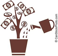 money invest tree symbol-brawn - watering tree money invest...