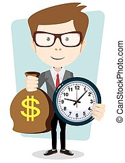 Money is time. Time management - Money is time. Money saving...