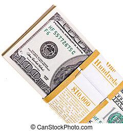 money isolated on white background