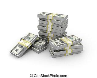 Money - Large pile of money. Large resolution