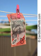 Money Laundering - Australian $20 note.