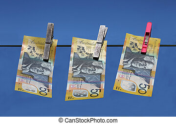 Money Laundering - Australian $50 notes.