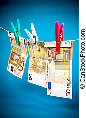 Money laundering from fifty euro notes