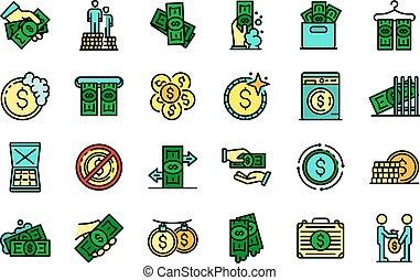Money laundering icons vector flat - Money laundering icons ...
