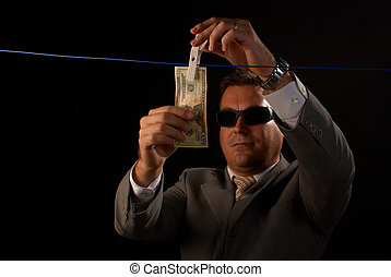Money laundering - Mafia guy doing some serious money ...
