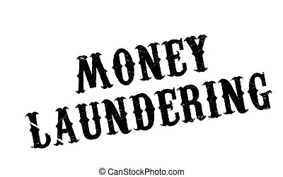 Money Laundering rubber stamp. Grunge design with dust...