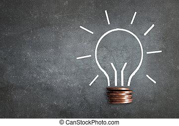 Money lightbulb