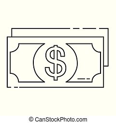 Money line icon. High quality outline logo for web site design and mobile apps