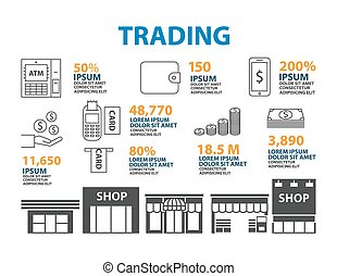 Money line icon  Infographic