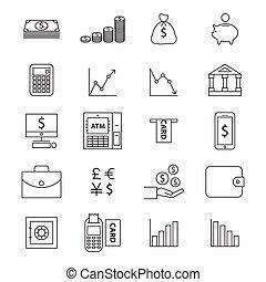 Money line  icon set