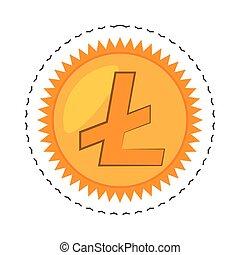 money litecoin golden commerce vector illustration eps 10