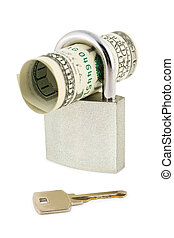 Money, lock and key
