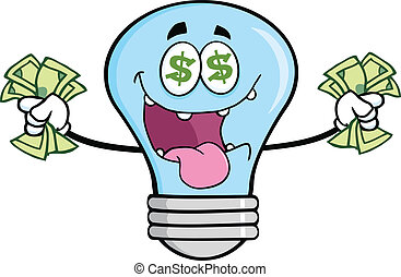 Money Loving Blue Light Bulb
